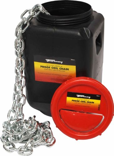Forney 70413 Proof Coil Chain, Grade 30 Zinc Plated, 3/8-Inch-by-63-Feet by Forney