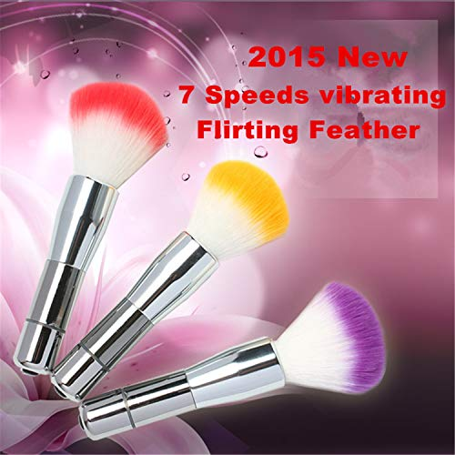 Vibratos Gift Special Prices Items 7 Speeds Vibrating Flirting Feather Male Female Teasing Tickling Fun Toys Couples,Adll Games Products,Penis Women -