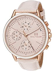 Tommy Hilfiger Womens Sport Quartz Gold and Leather Casual Watch, Color:Pink (Model: 1781789)