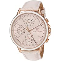 Tommy Hilfiger Women's Sport' Quartz Gold and Leather Casual Watch, Color:Pink (Model: 1781789)
