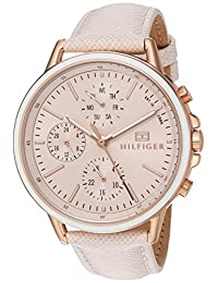 Tommy Hilfiger Women's 'Sport' Quartz Gold and Leather Casual Watch, Color:Pink (Model: 1781789)
