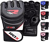 RDX MMA Gloves Grappling Martial Arts Sparring Punching Bag Cage Fighting Maya Hide Leather Mitts...
