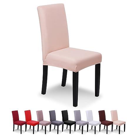SaintderG® Fundas para sillas Pack de 4 Fundas sillas Comedor, Duradera Modern Bouquet de la Boda, Hotel, Decor Restaurante (Champagne Ligero, Pack de ...
