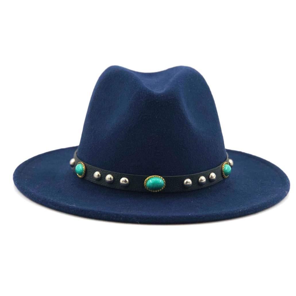 SANOMY Unisex Luxury Felt Fedora Hat Elegant Jazz Church Godfather Sombrero Caps