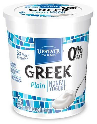 - Upstate Farms Greek Nonfat Blended Plain Yogurt, 32 Ounce - 6 per case.