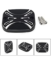 Three T Pair Motorcycle CNC Brake Master Clutch Cylinder Covers Cap Fit for Harley Electra Road Glide Street 2007-2010, Harley FLH FLHX FLHX 2008-2017