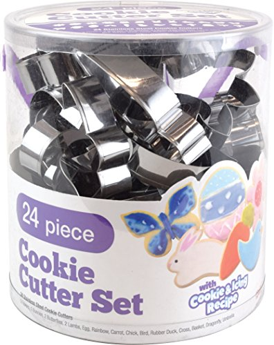 Spring & Easter Cookie Cutters, 24-Count