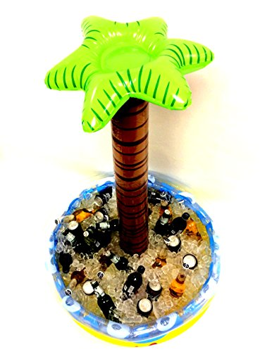 Price comparison product image Inflatable Palm Tree Beverage Cooler, by Playscene (4 FEET TALL)