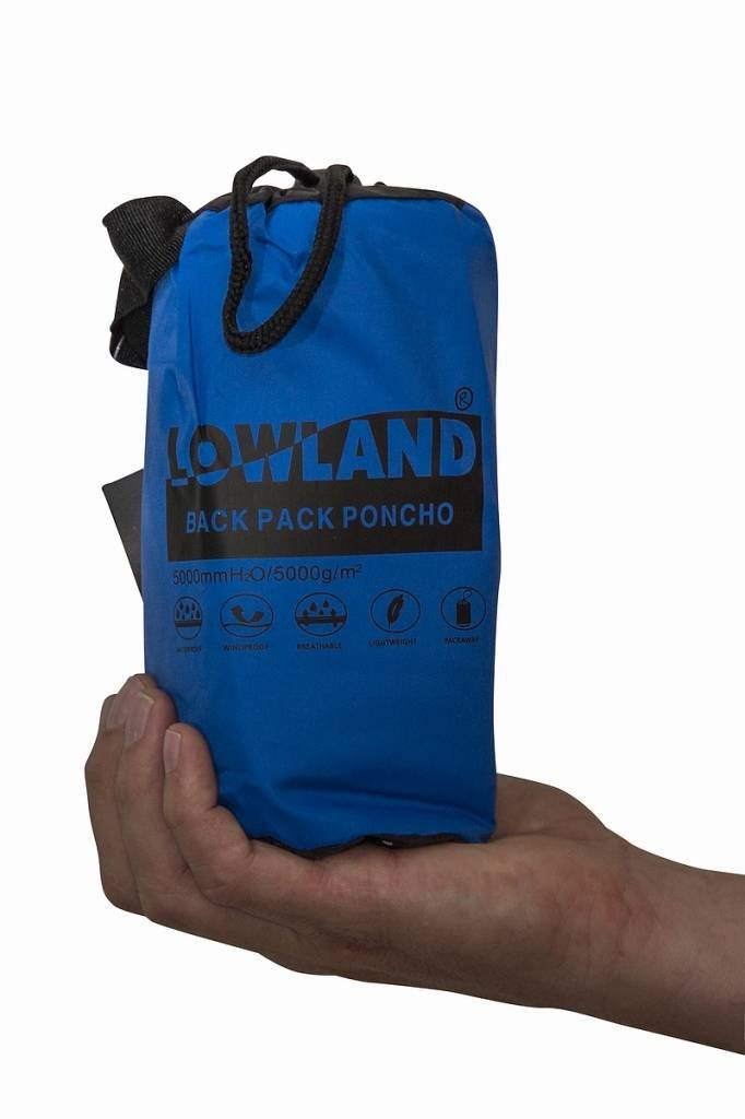 7000mm Wassers/äule Lowland Outdoor/® Rucksackregenponcho Atmungsaktiv Wasserdicht