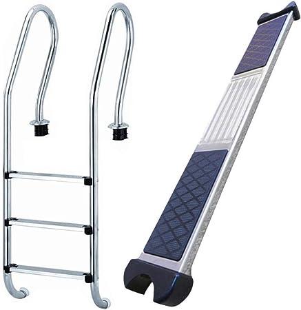 awhao-123 Pasos de peldaño de Escalera de Repuesto de Acero Inoxidable para Piscina, escalones de baño duraderos Antideslizantes (19.69 X 2.95 X 0.98in) judicious: Amazon.es: Hogar