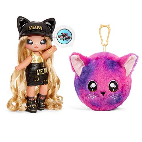 Na Na Na Surprise – Muñecas de Moda 2 en 1 Coleccionables para Niñas, Sasha Scratch, Bolso de Felpa Serie 3