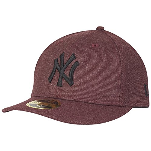 自分の癌該当するニューエラ (New Era) 59フィフティ LOW PROFILE キャップ - ニューヨーク?ヤンキース (New York Yankees) ヘザー マルーン
