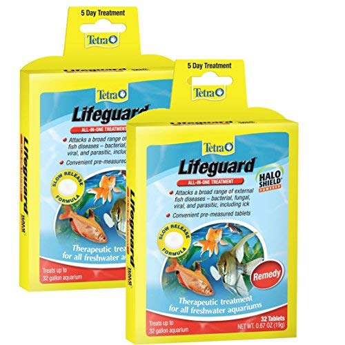 Tetra Lifeguard All-in-One Treatment, 32-Tablets, [2-Pack] (Best Filter For Flowerhorn)