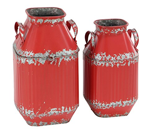 Deco Milk - Deco 79 98481 Decorative Milk Can Red