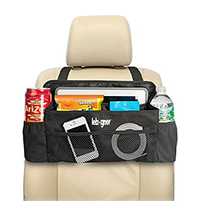 lebogner #1 Luxury CAR Organizer, Perfect Front Seat Organizer, Driver Organizer, Backseat Organizer, Car Seat Organizer for Kids, Black.: Automotive