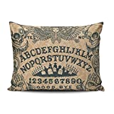 KEIBIKE Personalized Ouija Board Horror Movie Rectangle Decorative Pillowcases Funny Zippered Queen Pillow Covers Cases 20x30 Inches One Sided