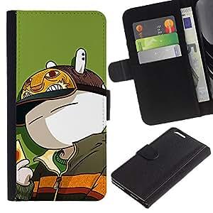 KingStore / Leather Etui en cuir / Apple Iphone 6 PLUS 5.5 / Conejito lindo Rich