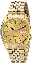 Seiko Men's SNXJ94 Automatic Goldtone Gold Dial Watch