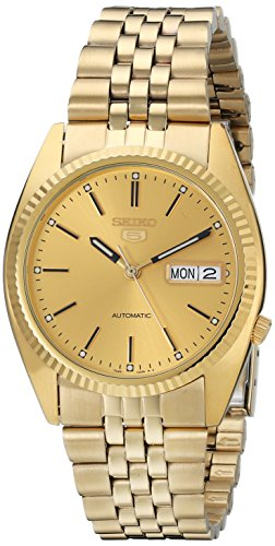 Seiko-Mens-SNXJ94-Automatic-Goldtone-Gold-Dial-Watch