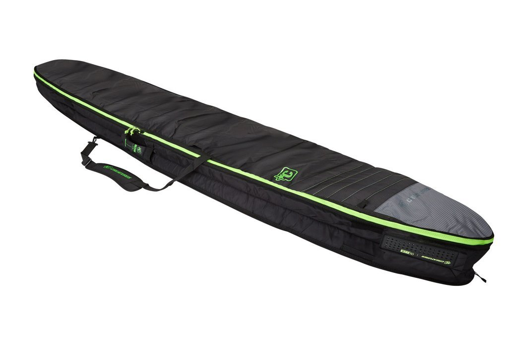 Creatures of Leisure Longboard Double Bag Charcoal Lime 8ft