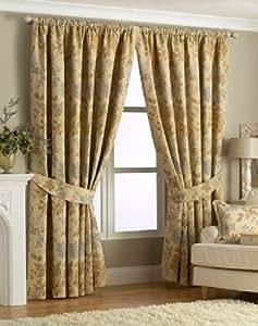 90 x 90 oro lectura forrado cortinas plisadas florales #RIV ** ERIHSKREB