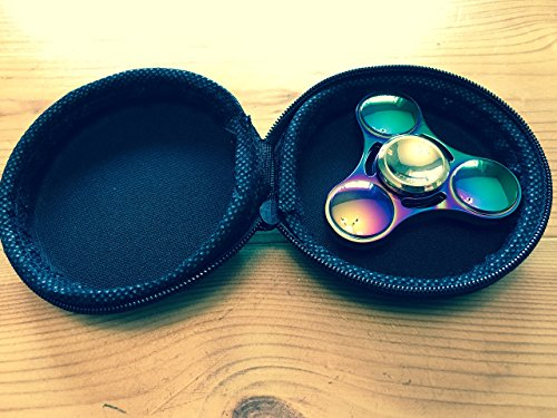 Evermarket New Style EDC Hand Spinner Metal Fidget ADHD Focus Toy Ultra Durable High Speed Anxiety Relief Toys,Rainbow Color