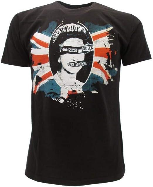 Sex Pistols Camiseta God Save The Queen Camiseta Punk Rock - Oficial Original: Amazon.es: Ropa y accesorios