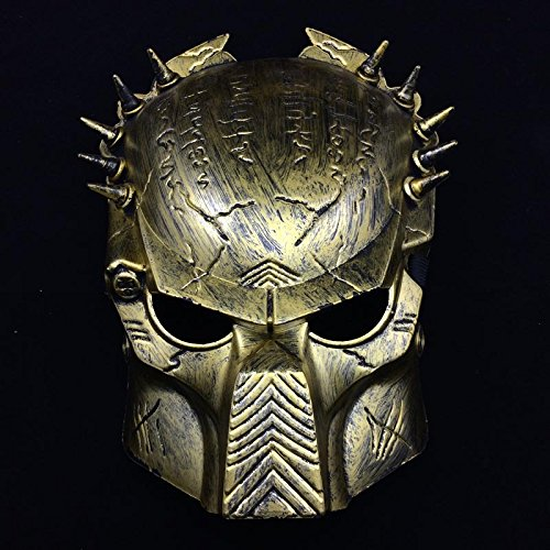 [Fashion Cosplay for Halloween Masquerade Carnival Party Prom Carnival Mask (Gold)] (Half Doll Half Zombie Costume)