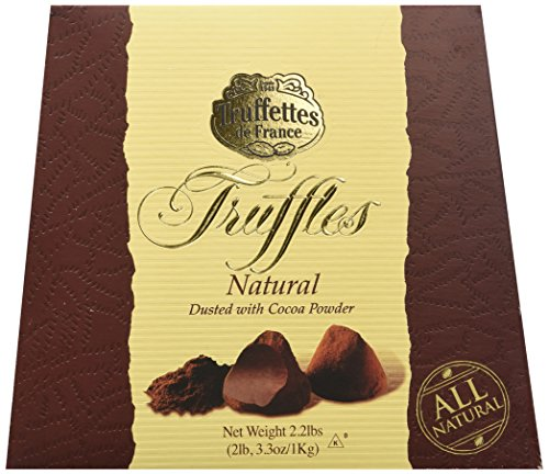 Fancy Truffles - Chocmod Truffettes de France Natural Truffles, Plain, 1000-Gram Boxes (Pack of 2)