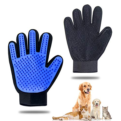 Mua Pet Grooming Glove - Gentle Pet Hair Remover Mitt - True Touch  Deshedding Glove for Cats, Dogs for Long & Short Fur - Enhanced Five Finger  Design for Cat Grooming Gloves