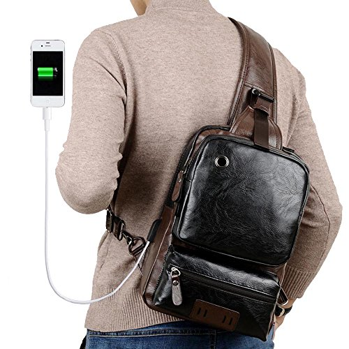 Leather Backpack Handbags - 6