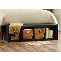 Better Homes and Gardens 4-Cube Organizer Storage Bookcase Bookshelf White (Solid Black)