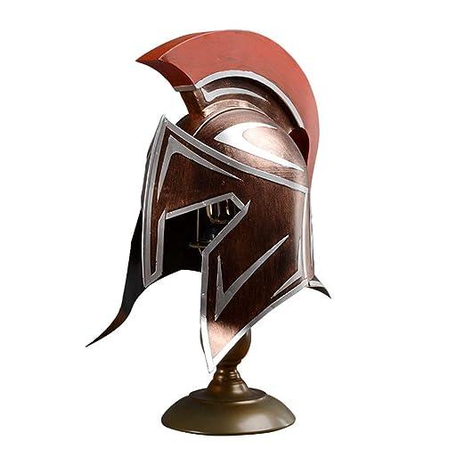 BDWN Lámpara de Mesa Medieval Casco Espartano Escritorio Griega de ...