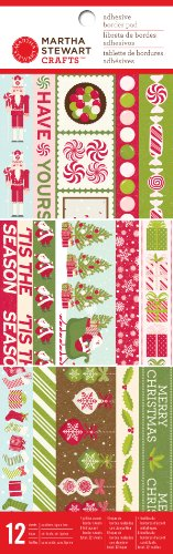 (Martha Stewart Crafts Peppermint Winter Adhesive Border Pad for Scrapbooks)