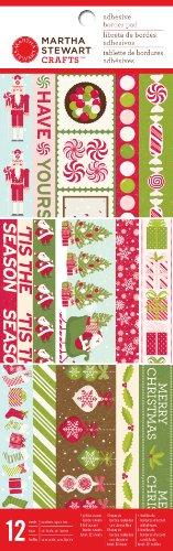 (Martha Stewart Crafts Peppermint Winter Adhesive Border Pad for Scrapbooks)