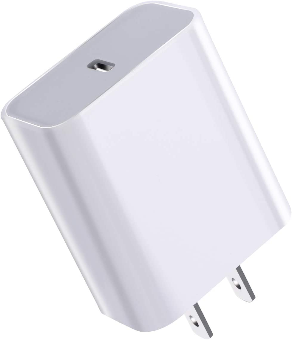 USB C Wall Charger, JDHDL 18W Fast PD Charger for iPhone 12Mini /12/12 Pro /12 Pro Max /11,iPad Pro,Pixel,Galaxy and More