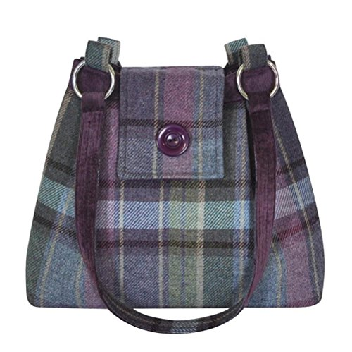 Handbag a Shoulder in Squared choice of Tweed Ava Tweed Heather Earth colours IqwYXTxT