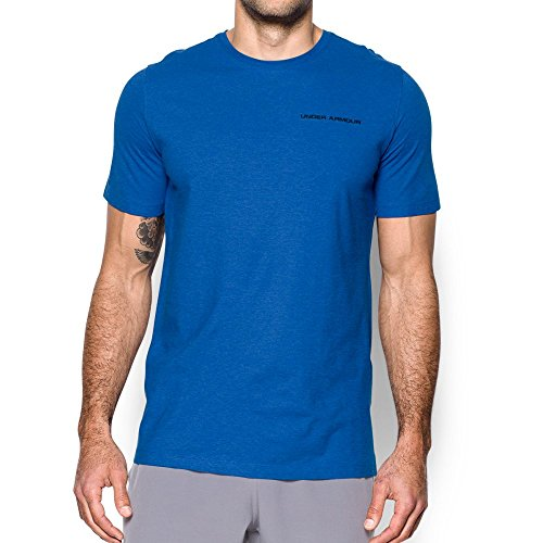 Under Armour Mens Charged Cotton T Shirt  Blue Marker Black  Large