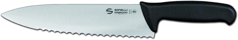 Cm 21 Grigio Acciaio Inossidabile Sanelli Ambrogio Supra Trinciante Cuoco Coltello con Manico Ergonomico in Polipropilene Nero