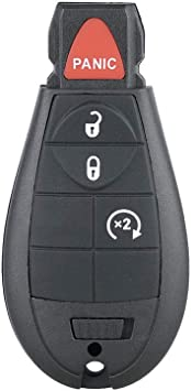 Fits for 2013-2018 Dodge Ram 1500 2500 3500 Aupoko GQ4-53T 4 Buttons Keyless Entry Remote Key Fob Replace# 56046955,56046955AG 56046955AA 56046955AB