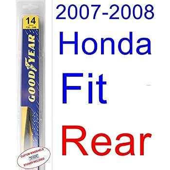 2007-2008 Honda Fit Wiper Blade (Rear) (Goodyear Wiper Blades-Hybrid)