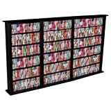 Venture Horizon Triple 50-Inch CD DVD Wall Rack Media Storage - Black