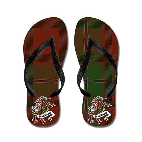 CafePress Macphail Unicorn - Flip Flops, Funny Thong Sandals, Beach Sandals Black