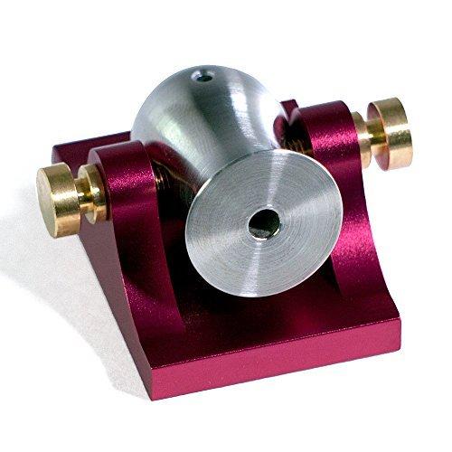 Mini Desktop Cannon Pocket Artillery - Red w/ Brass Hardware