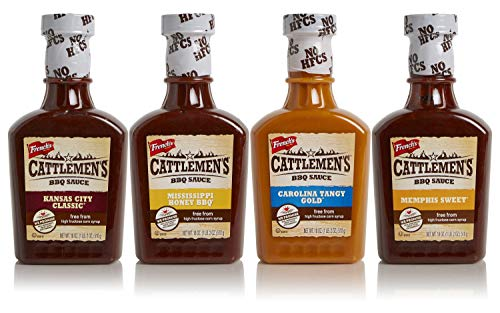 Cattlemen's BBQ Sauce Variety 4-Pack, No High-Fructose Corn Syrup, Real Ingredients, 18oz (Pack of 4)