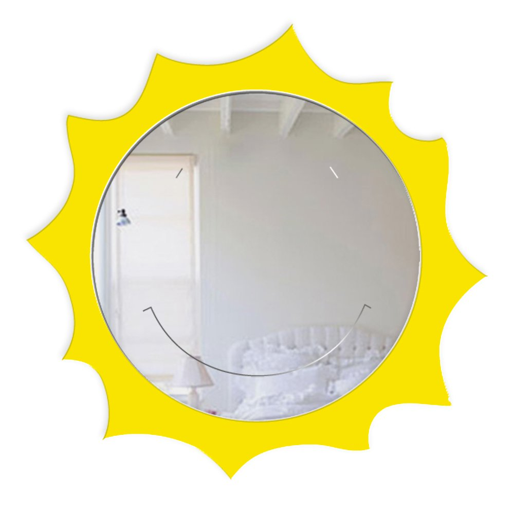 Mungai Mirrors 30cm Happy Sun Acrylic Mirror 0014