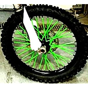 """MADE IN USA"" Bykas-K-Green-Spoke, Covers, Wraps, Skins, Coats-Dirt Bike 72 Spokes"