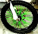 MADE IN USA Bykas-K-Green-Spoke, Covers, Wraps, Skins, Coats-Dirt Bike 72 Spokes