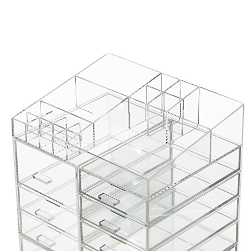 Chic Cq Acrylic Extra Large 8 Tier Clear Acrylic Cosmetic Makeup