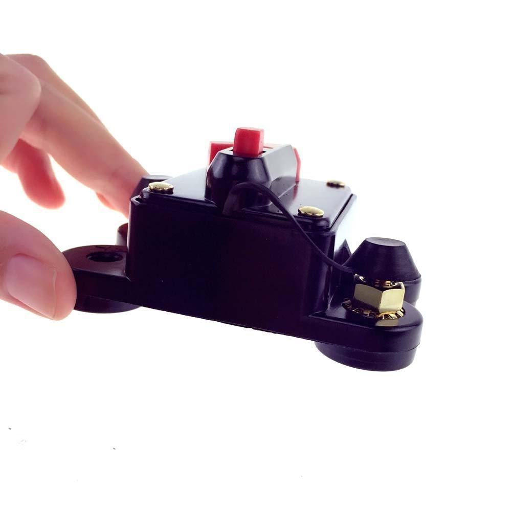ZOOKOTO 100 Amp Circuit Breaker Trolling Motor Auto Car Marine Boat Bike Stereo Audio Terminal Inline Fuse Inverter with Manual Reset 12V-24V DC
